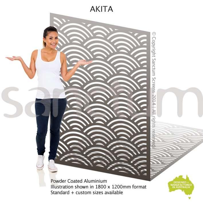 Akita aluminium screen