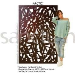 Arctic design Sanctum Screens Weathertex Timber
