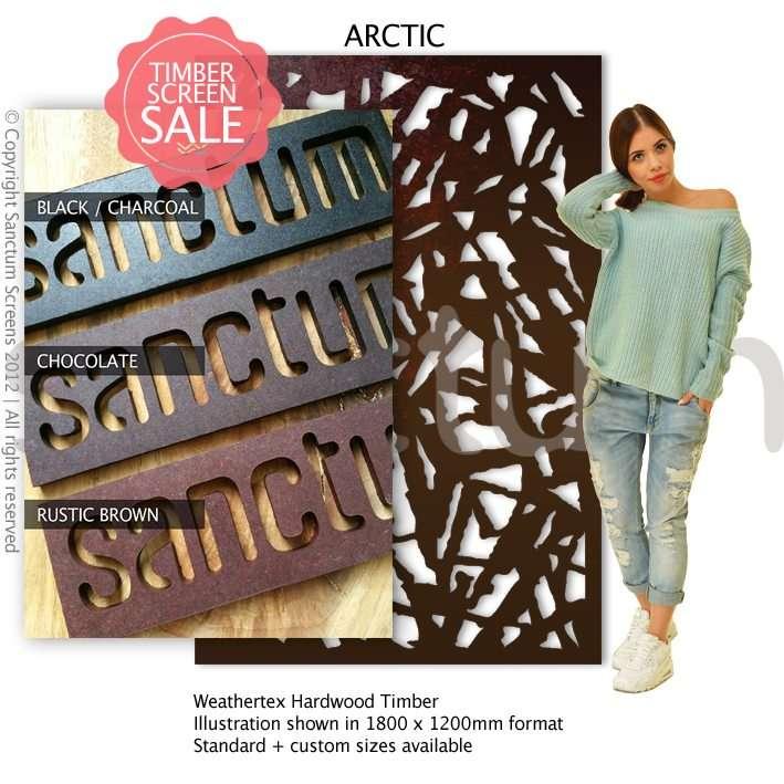 Arctic design Sanctum Screens Weathertex Coated Timber