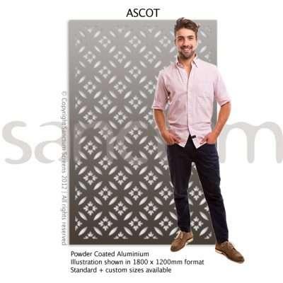Ascot design Sanctum Screens Aluminium
