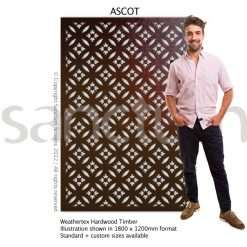 Ascot design Sanctum Screens Weathertex Timber