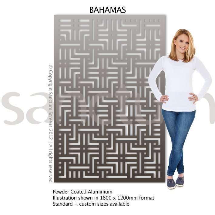 Bahamas design Sanctum Screens Aluminium