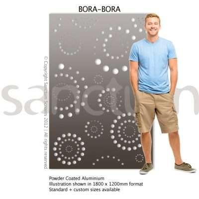 Bora Bora design Sanctum Screens Aluminium