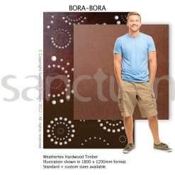 Bora Bora design Sanctum Screens Weathertex RAW Timber