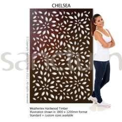 Chelsea design Sanctum Screens Weathertex Timber