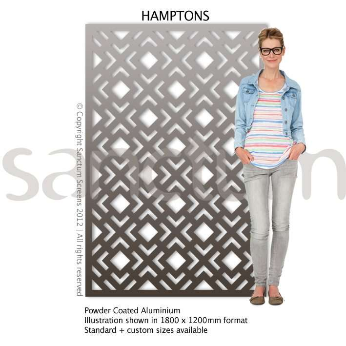 Hamptons design Sanctum Screens Aluminium