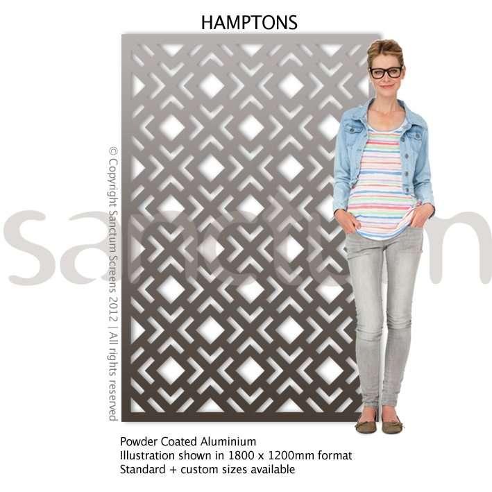 Hamptons design Sanctum Screens Aluminium