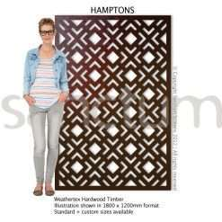 Hamptons design Sanctum Screens Weathertex Timber
