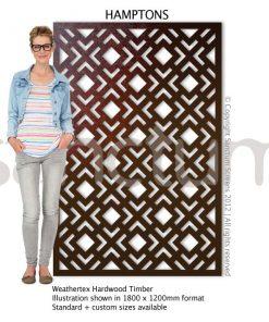 Hamptons design Sanctum Screens Weathertex Timber