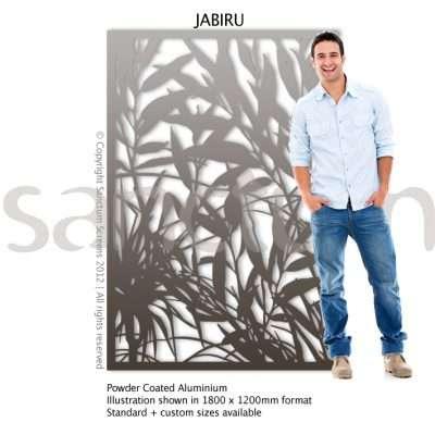 Jabiru design Sanctum Screens Aluminium