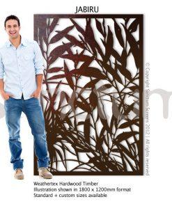 Jabiru design Sanctum Screens Weathertex Timber