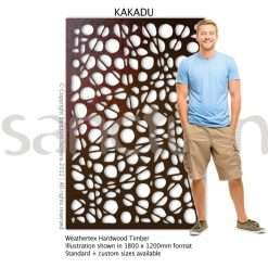 Kakadu design Sanctum Screens Weathertex Timber
