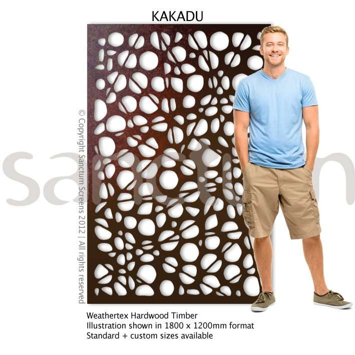 Kakadu design Sanctum Screens Weathertex Timber