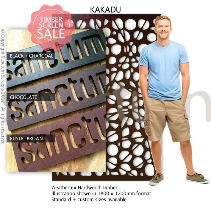 Kakadu design Sanctum Screens Weathertex Coated Timber
