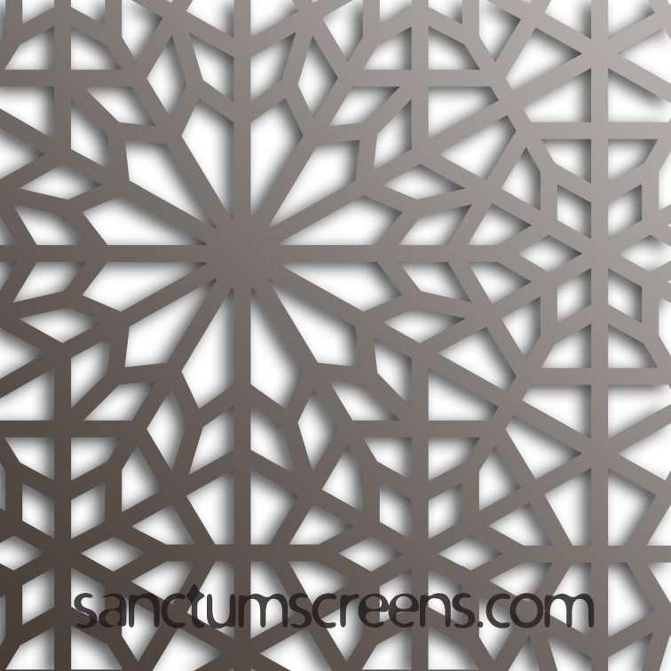 Lake Louise design Sanctum Screens Aluminium