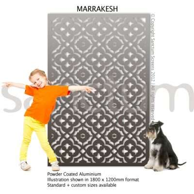 Marrakesh design Sanctum Screens Aluminium