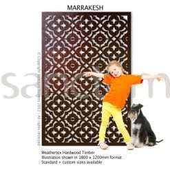 Marrakesh design Sanctum Screens Weathertex Timber