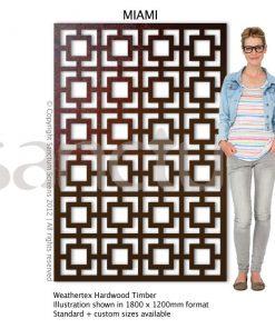 Miami design Sanctum Screens Weathertex Timber
