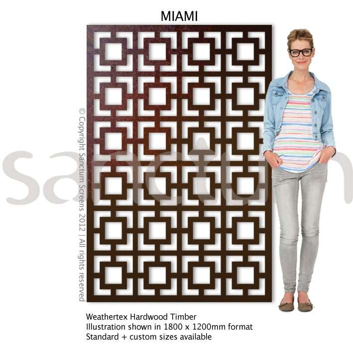 Miami design Sanctum Screens Weathertex Timber