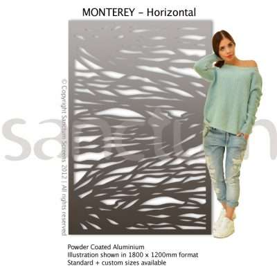 Monterey Horizontal design Sanctum Screens Aluminium