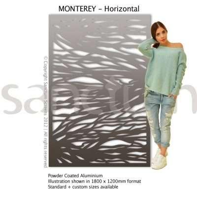 Monterey Horizontal design Sanctum Screens Aluminium