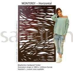 Monterey Horizontal design Sanctum Screens Weathertex Timber