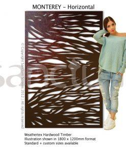 Monterey Horizontal design Sanctum Screens Weathertex Timber