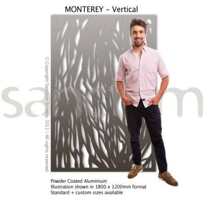 Monterey Vertical design Sanctum Screens Aluminium