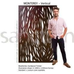 Monterey Vertical design Sanctum Screens Weathertex Timber