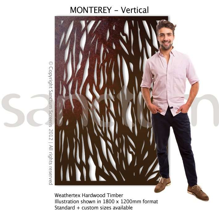 Monterey Vertical design Sanctum Screens Weathertex Timber