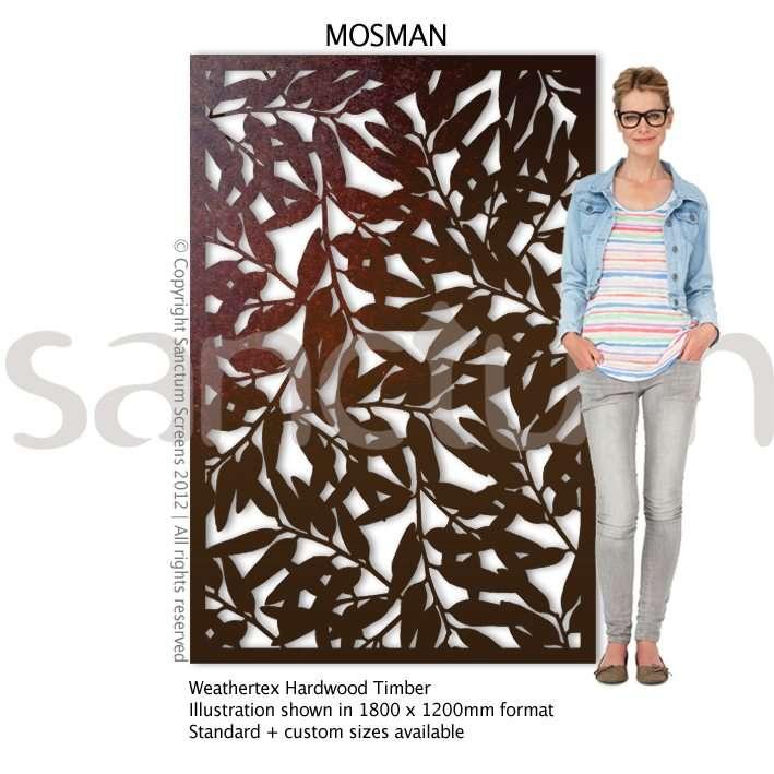 Mosman design Sanctum Screens Weathertex Timber