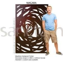 Niagara design Sanctum Screens Weathertex Timber