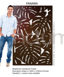 Panama design Sanctum Screens Weathertex Timber