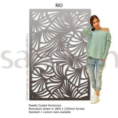 Rio design Sanctum Screens Aluminium