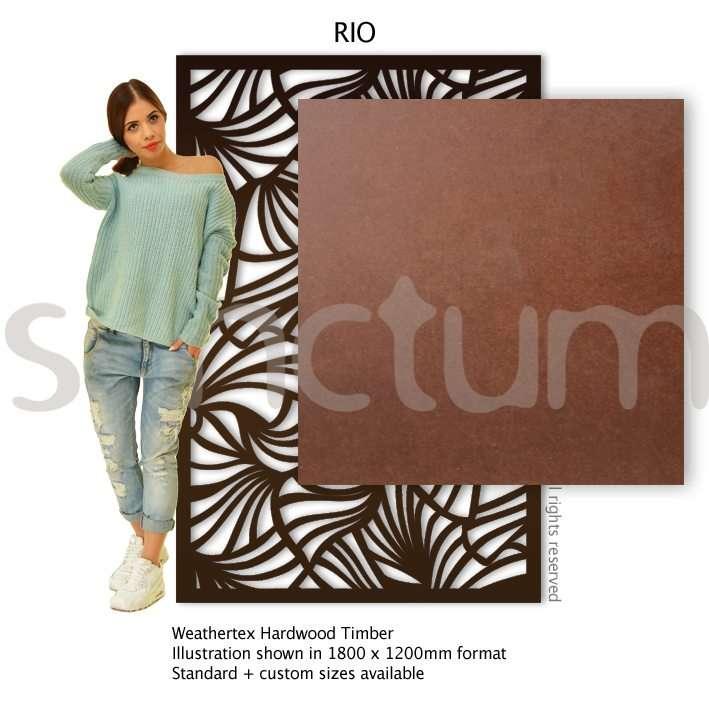 Rio design Sanctum Screens Weathertex RAW Timber