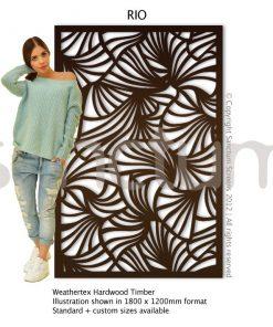 Rio design Sanctum Screens Weathertex Timber