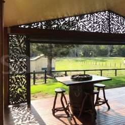 Mosman gable sceen on alfresco deck in country