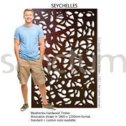 Seychelles design Sanctum Screens Weathertex Timber
