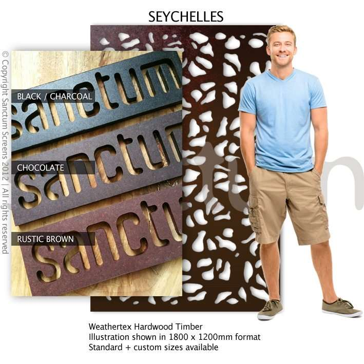 Seychelles design Sanctum Screens Weathertex Coated Timber
