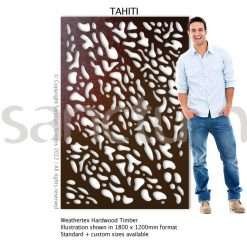 Tahiti design Sanctum Screens Weathertex Timber