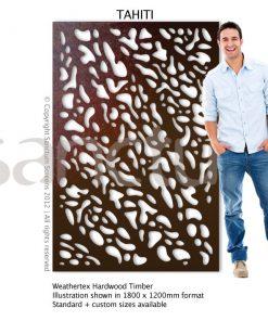 Tahiti design Sanctum Screens Weathertex Timber