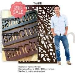 Tahiti design Sanctum Screens Weathertex Coated Timber