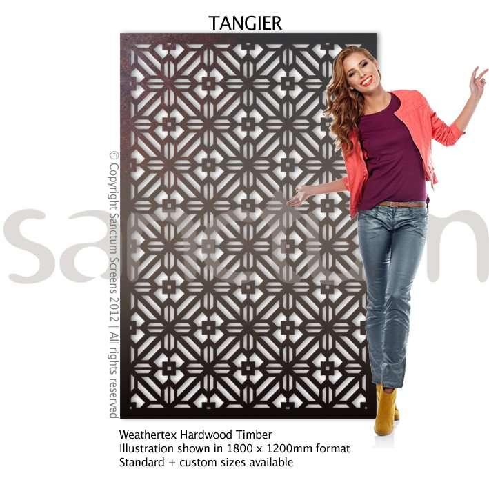 Tanigier design Sanctum Screens Weathertex Timber