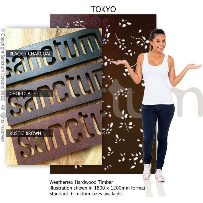 Tokyo design Sanctum Screens Weathertex Coated Timber