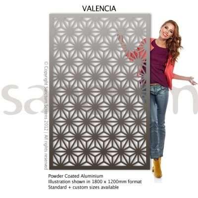 Valencia design Sanctum Screens Aluminium