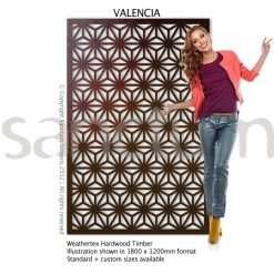 Valencia design Sanctum Screens Weathertex Timber