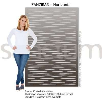 Zanzibar Horizontal design Sanctum Screens Aluminium