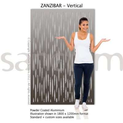 Zanzibar Vertical design Sanctum Screens Aluminium