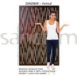 Zanzibar Vertical design Sanctum Screens Weathertex Timber