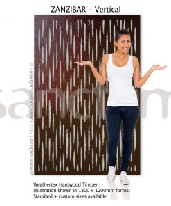 Zanzibar Vertical design Sanctum Screens Weathertex Timber